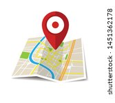 location icon vector. pin sign... | Shutterstock .eps vector #1451362178