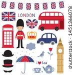 london symbols clip art set | Shutterstock .eps vector #1451366078
