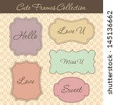 cute frames collection. vector... | Shutterstock .eps vector #145136662