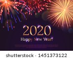 happy new year 2020 greeting... | Shutterstock .eps vector #1451373122
