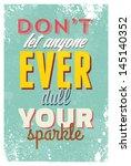 vintage typography vector... | Shutterstock .eps vector #145140352
