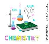 chemistry items subject poster... | Shutterstock . vector #1451406152
