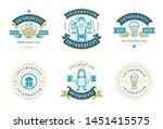 oktoberfest badges and labels... | Shutterstock .eps vector #1451415575