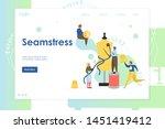 seamstress vector website... | Shutterstock .eps vector #1451419412