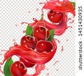 cherry fresh juice splash for... | Shutterstock .eps vector #1451430935