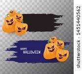 halloween web black grunge... | Shutterstock .eps vector #1451440562