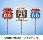 route 66 vintage signs | Shutterstock .eps vector #145144276
