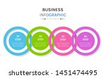 timeline circle infographic... | Shutterstock .eps vector #1451474495