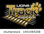 lions track and field team... | Shutterstock .eps vector #1451485208