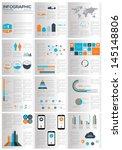 infographic elements. vector... | Shutterstock .eps vector #145148806