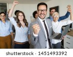 group of successful business... | Shutterstock . vector #1451493392