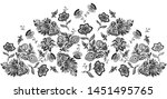 lace leaf flower design skirt...   Shutterstock . vector #1451495765
