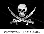 Realistic flag of pirates black ...