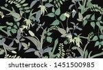 flowers and foliage seamless... | Shutterstock .eps vector #1451500985