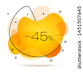 geometric sale banner with... | Shutterstock .eps vector #1451507645