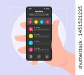 fake chat smartphone interface...