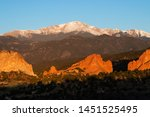 a majestic sunrise over the... | Shutterstock . vector #1451525495