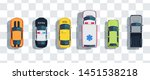 cars set from above  top view... | Shutterstock .eps vector #1451538218