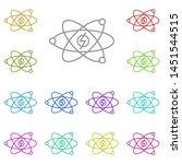 atomic energy multi color icon. ...