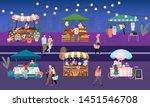 night fair flat vector... | Shutterstock .eps vector #1451546708