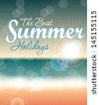 summer holidays vector... | Shutterstock .eps vector #145155115
