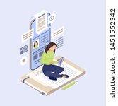 content marketing isometric...   Shutterstock .eps vector #1451552342