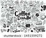 Stock vector set of hand drawn coffee and delicious sweets vector illustration cakes biscuits baking 1451559272