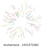 colorful fireworks radiating... | Shutterstock .eps vector #1451572382