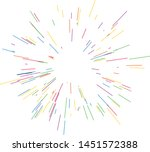 colorful fireworks radiating... | Shutterstock .eps vector #1451572388