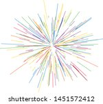 colorful fireworks radiating... | Shutterstock .eps vector #1451572412