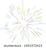 colorful fireworks radiating... | Shutterstock .eps vector #1451572415
