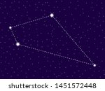 sextans constellation. starry... | Shutterstock .eps vector #1451572448