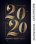 2020. happy new year. greeting... | Shutterstock .eps vector #1451595398
