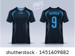 t shirt sport design template ... | Shutterstock .eps vector #1451609882