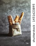 French Pastries  Baguettes On A ...