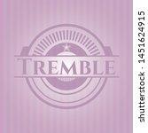 tremble realistic pink emblem....   Shutterstock .eps vector #1451624915