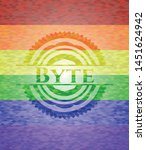byte on mosaic background with...   Shutterstock .eps vector #1451624942