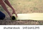 cropped image of girl rolling...   Shutterstock . vector #1451641295
