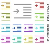 indent  text multi color icon....