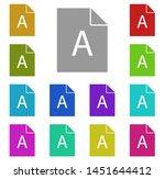 file  text multi color icon....
