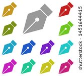 pen tool  text multi color icon....