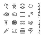 pork related icon set.vector... | Shutterstock .eps vector #1451644742