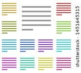 alignment text multi color icon....