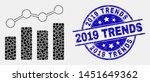 pixel trend chart mosaic... | Shutterstock .eps vector #1451649362