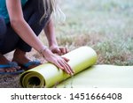 cropped image of girl rolling...   Shutterstock . vector #1451666408