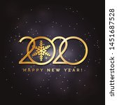 happy new year 2020 logo text... | Shutterstock .eps vector #1451687528