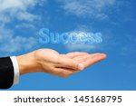 business man hand and... | Shutterstock . vector #145168795