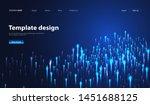 abstract technology data... | Shutterstock .eps vector #1451688125