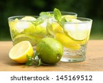fresh summer drink with ice... | Shutterstock . vector #145169512