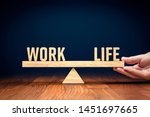 work life  work life  balance... | Shutterstock . vector #1451697665